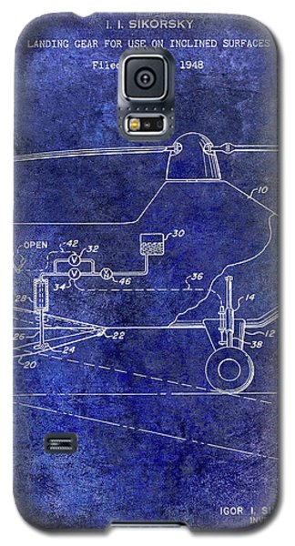1953 Helicopter Patent Blue Galaxy S5 Case