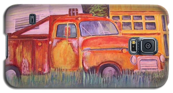 Galaxy S5 Case featuring the painting 1954 Gmc Wrecker Truck by Belinda Lawson