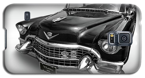 Galaxy S5 Case featuring the photograph 1955 Cadillac Black And White by Gill Billington