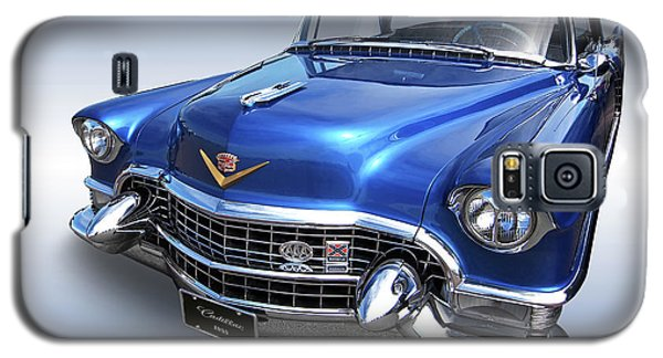 Galaxy S5 Case featuring the photograph 1955 Cadillac Blue by Gill Billington
