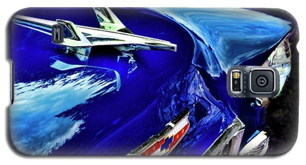 1955 Chevy Bel Air Hard Top - Blue Galaxy S5 Case by Peggy Collins