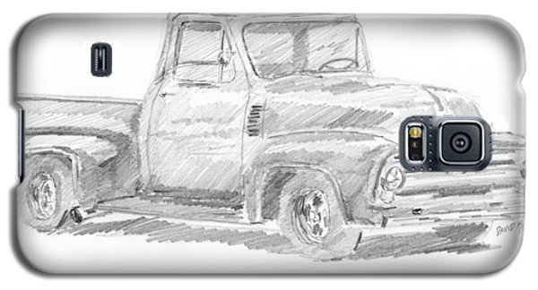 1955 Ford Pickup Sketch Galaxy S5 Case