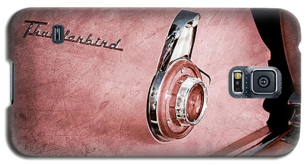 Galaxy S5 Case featuring the photograph 1956 Ford Thunderbird Convertible Taillight Emblem -0361ac by Jill Reger