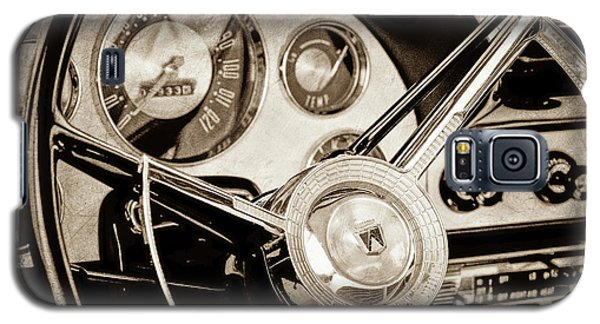 Galaxy S5 Case featuring the photograph 1956 Ford Victoria Steering Wheel -0461s by Jill Reger