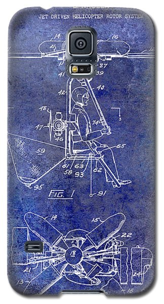 1956 Helicopter Patent Blue Galaxy S5 Case