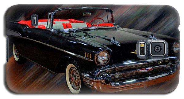 1957 Chevy Bel Air Convertible Digital Oil Galaxy S5 Case