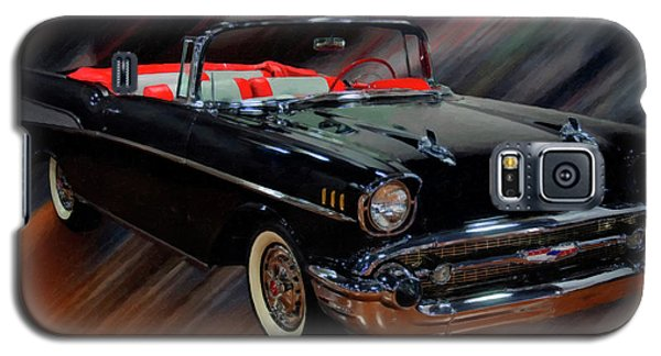 1957 Chevy Bel Air Convertible Digital Oil Galaxy S5 Case