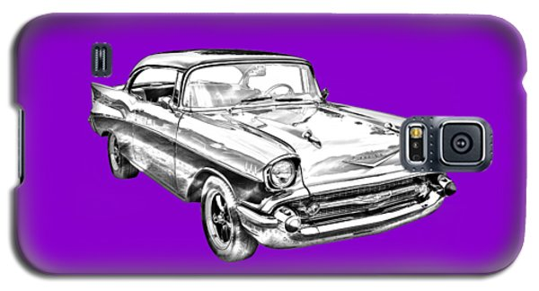 1957 Chevy Bel Air Illustration Galaxy S5 Case