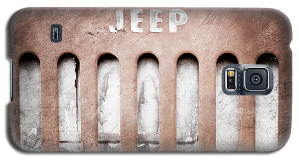 Galaxy S5 Case featuring the photograph 1957 Jeep Emblem -0597ac by Jill Reger