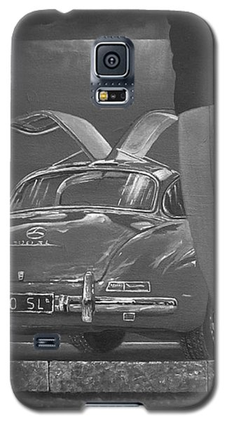 1957 Mercedes Benz 300 Sl Gullwing Coupe In Black And White Galaxy S5 Case