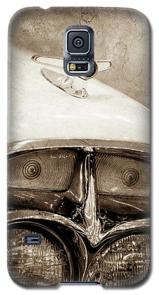 Galaxy S5 Case featuring the photograph 1957 Mercury Turnpike Cruiser Emblem -0749s by Jill Reger