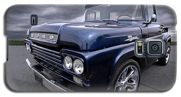 1959 Ford F100 Dark Blue Pickup Galaxy S5 Case by Gill Billington