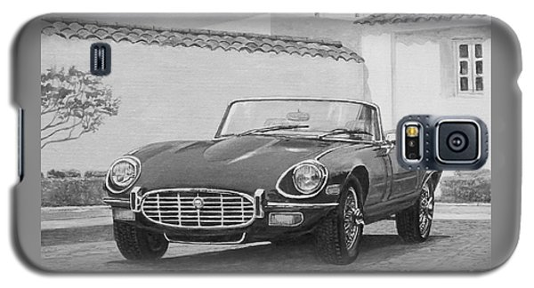 1961 Jaguar Xke Cabriolet In Black And White Galaxy S5 Case