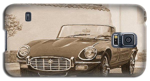 1961 Jaguar Xke Cabriolet In Sepia Galaxy S5 Case