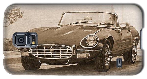 1961 Jaguar Xke Cabriolet In Sepia Galaxy S5 Case