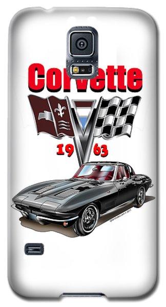 1963 Corvette With Split Rear Window Galaxy S5 Case