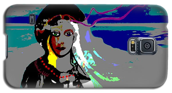 Galaxy S5 Case featuring the digital art 1964 - Walk On The Seaside by Irmgard Schoendorf Welch