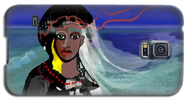 Galaxy S5 Case featuring the digital art 1965 - Walk On The Oceanside by Irmgard Schoendorf Welch