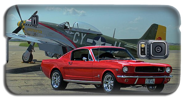 1965 Mustang Fastback And P51 Mustang Galaxy S5 Case