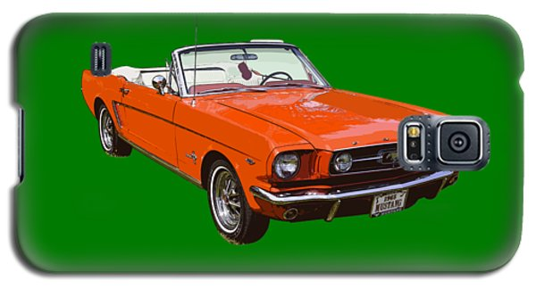 1965 Red Convertible Ford Mustang - Classic Car Galaxy S5 Case by Keith Webber Jr