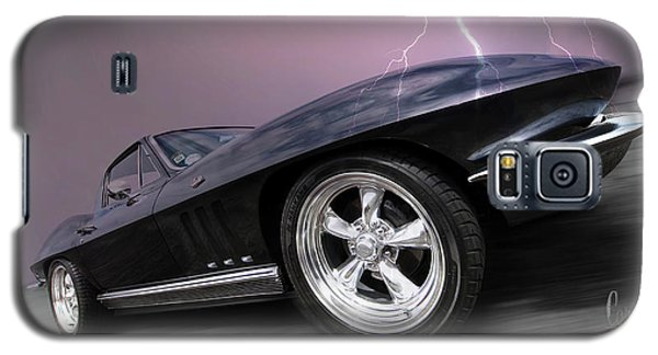 1966 Corvette Stingray With Lightning Galaxy S5 Case