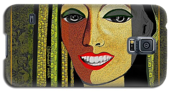 Galaxy S5 Case featuring the digital art 1966 - Lady With Beautiful Teeth by Irmgard Schoendorf Welch