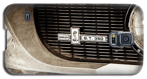 Galaxy S5 Case featuring the photograph 1967 Ford Gt 350 Shelby Clone Grille Emblem -0759s by Jill Reger