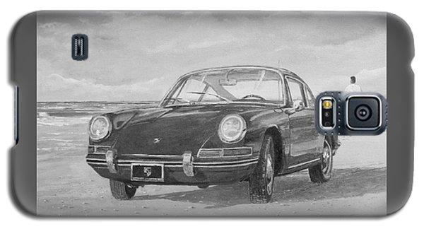 1967 Porsche 912 In Black And White Galaxy S5 Case