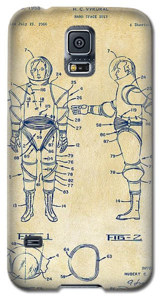 1968 Hard Space Suit Patent Artwork - Vintage Galaxy S5 Case
