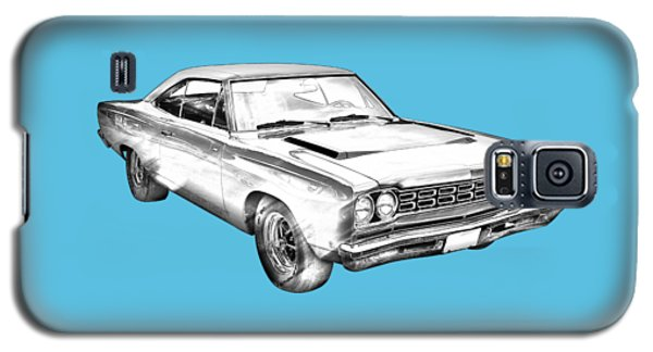 1968 Plymouth Roadrunner Muscle Car Illustration Galaxy S5 Case