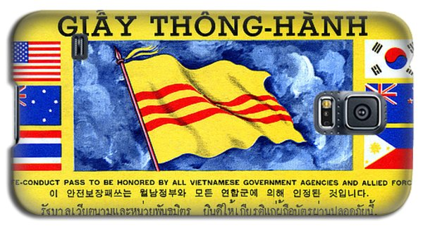 Galaxy S5 Case featuring the painting 1968 Vietnam War Safe Conduct Pass by Historic Image