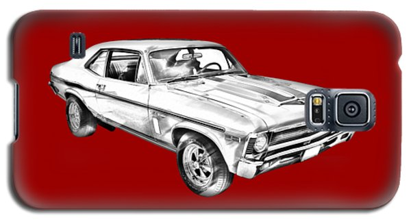 1969 Chevrolet Nova Yenko 427 Muscle Car Illustration Galaxy S5 Case