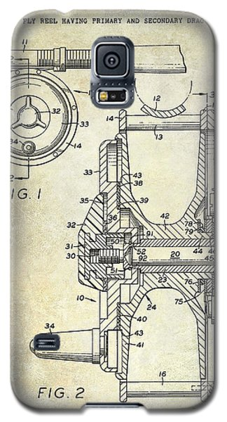 1969 Fly Reel Patent Galaxy S5 Case