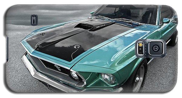 1969 Green 428 Mach 1 Cobra Jet Ford Mustang Galaxy S5 Case