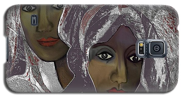 Galaxy S5 Case featuring the digital art 1969 -  White Veils by Irmgard Schoendorf Welch