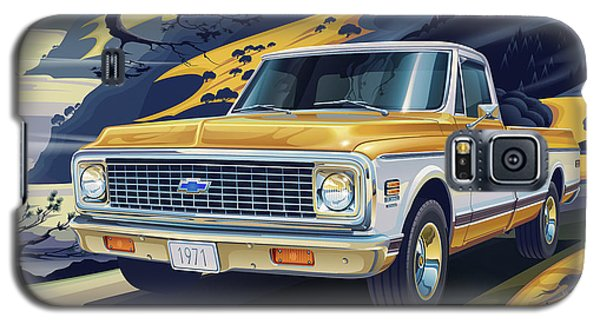 Truck Galaxy S5 Case - 1971 Chevrolet C10 Cheyenne Fleetside 2wd Pickup by Garth Glazier