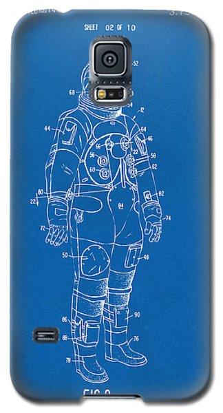 1973 Astronaut Space Suit Patent Artwork - Blueprint Galaxy S5 Case by Nikki Marie Smith