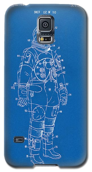 1973 Astronaut Space Suit Patent Artwork - Blueprint Galaxy S5 Case