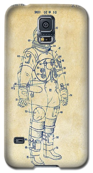 1973 Astronaut Space Suit Patent Artwork - Vintage Galaxy S5 Case