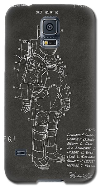 1973 Space Suit Patent Inventors Artwork - Gray Galaxy S5 Case by Nikki Marie Smith