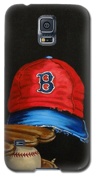 Galaxy S5 Case featuring the painting 1975 Red Sox by Susan Roberts