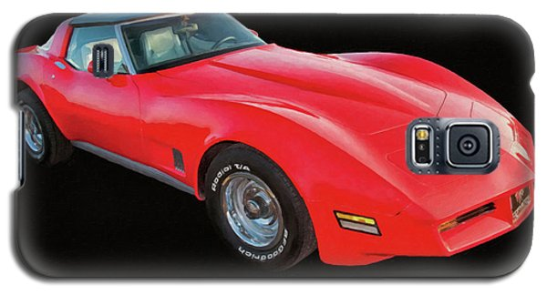 1977 Chevy Corvette T Tops Digital Oil Galaxy S5 Case
