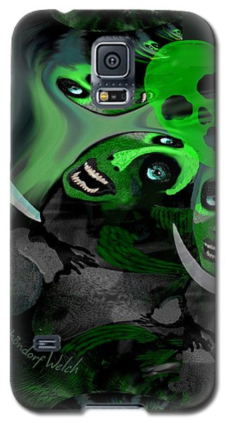 Galaxy S5 Case featuring the digital art  1982 Violence And Fear 2017 by Irmgard Schoendorf Welch
