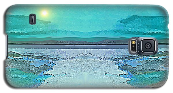 Galaxy S5 Case featuring the digital art 1983 - Blue Waterland -  2017 by Irmgard Schoendorf Welch