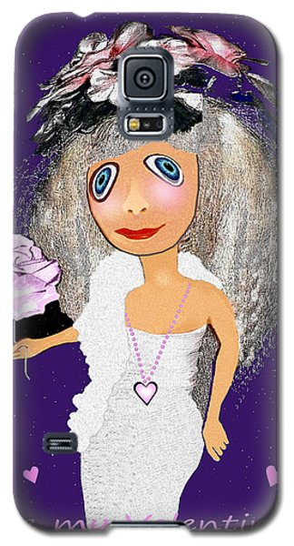 Galaxy S5 Case featuring the digital art 1989 -  I Want To Be Loved By You 2017 by Irmgard Schoendorf Welch