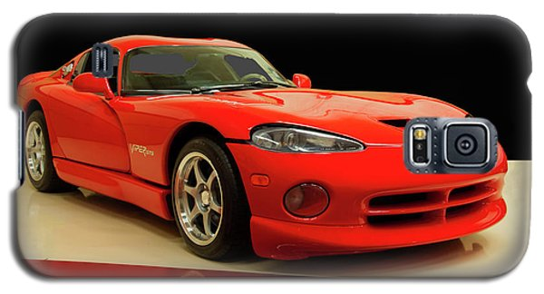 Galaxy S5 Case featuring the digital art 1997 Dodge Viper Gts Red by Chris Flees