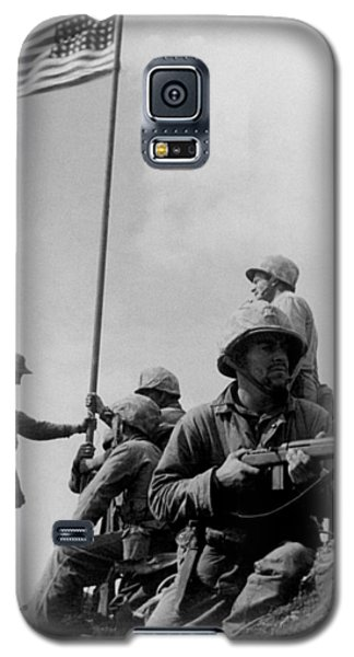 1st Flag Raising On Iwo Jima  Galaxy S5 Case by War Is Hell Store
