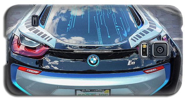 Galaxy S5 Case featuring the photograph 2015 Bmw I8 Hybrid Sports Car by Rich Franco