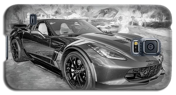 Galaxy S5 Case featuring the photograph 2017 Chevrolet Corvette Gran Sport Bw by Rich Franco