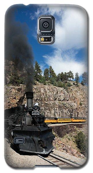 Galaxy S5 Case featuring the photograph A Durango And Silverton Narrow Gauge Scenic Railroad Train Chugs Through The San Juan Mountains by Carol M Highsmith